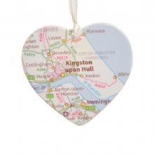 Roadmap Ceramic Heart - Christmas Tree Decoration